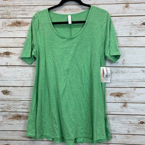 LuLaRoe Perfect T Medium Green Heather NWT